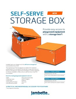 Self-serve storage box